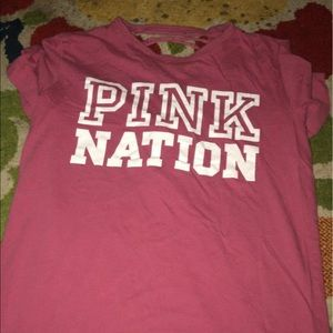 pink Victoria's Secret shirt size extra small